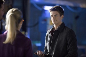 "Grant Gustin incarnant Barry Allen dans l'épisode 8 de Arrow ""The Scientist"""