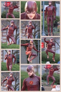 Montage de différentes photos de Grant Gustin aka Barry Allen/Flash