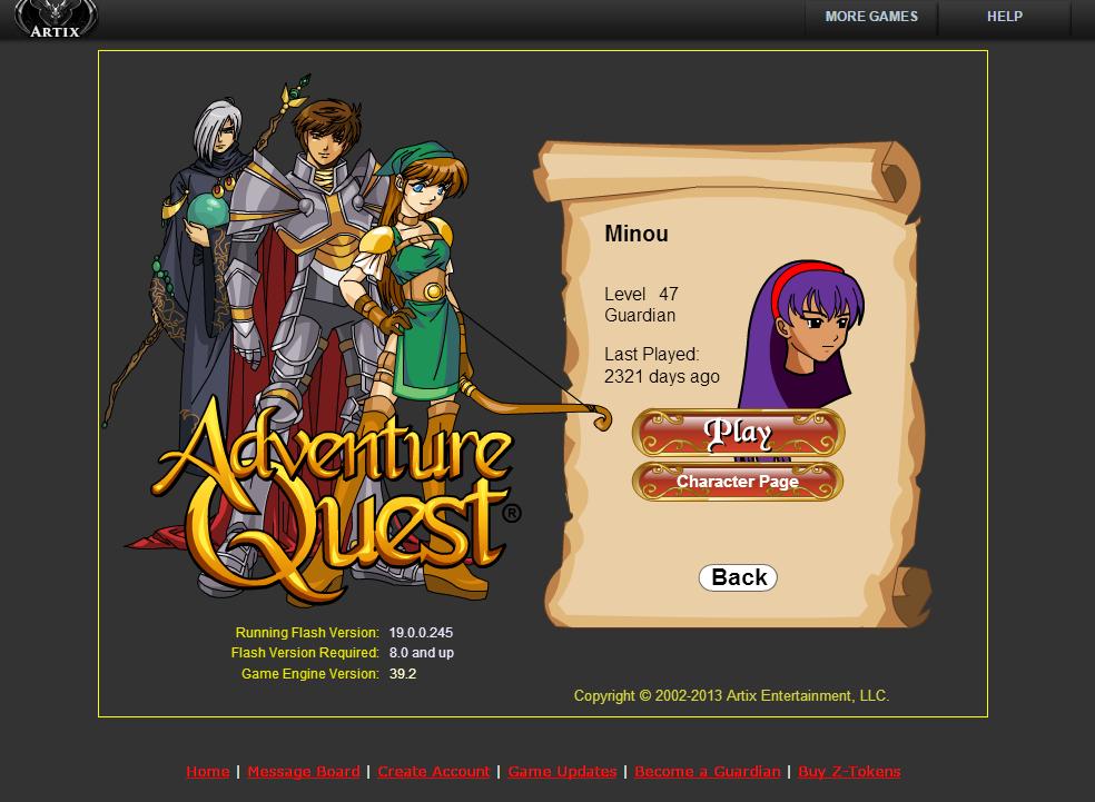 Ouais je sais, j'avais choisis un nom de personnage plutôt ridicule ;-)