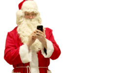 santa-on-cellphone
